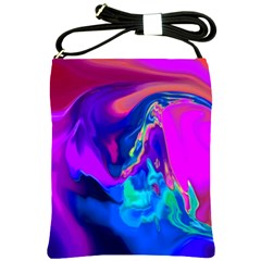 The Perfect Wave Pink Blue Red Cyan Shoulder Sling Bags