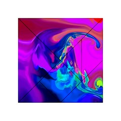 The Perfect Wave Pink Blue Red Cyan Acrylic Tangram Puzzle (4  X 4 )