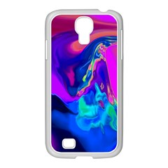 The Perfect Wave Pink Blue Red Cyan Samsung Galaxy S4 I9500/ I9505 Case (white)