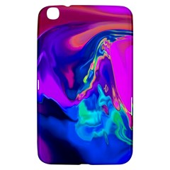 The Perfect Wave Pink Blue Red Cyan Samsung Galaxy Tab 3 (8 ) T3100 Hardshell Case