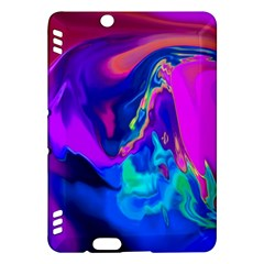 The Perfect Wave Pink Blue Red Cyan Kindle Fire Hdx Hardshell Case