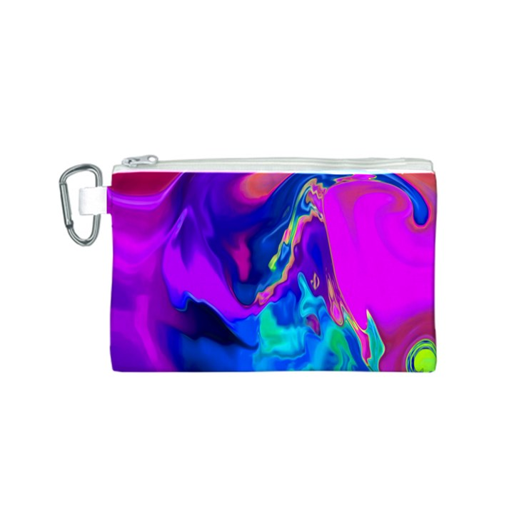 The Perfect Wave Pink Blue Red Cyan Canvas Cosmetic Bag (S)