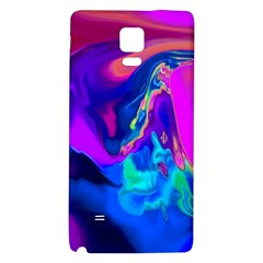 The Perfect Wave Pink Blue Red Cyan Galaxy Note 4 Back Case