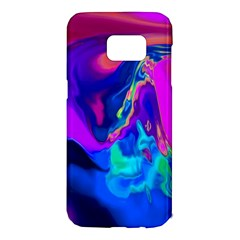 The Perfect Wave Pink Blue Red Cyan Samsung Galaxy S7 Edge Hardshell Case