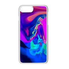 The Perfect Wave Pink Blue Red Cyan Apple Iphone 7 Plus White Seamless Case