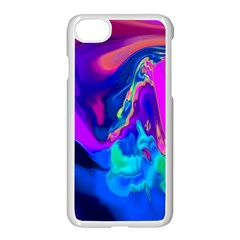 The Perfect Wave Pink Blue Red Cyan Apple Iphone 7 Seamless Case (white)