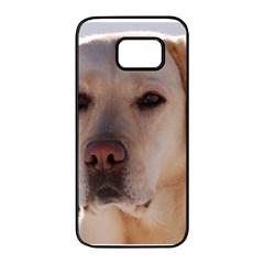 Yellow Labrador Samsung Galaxy S7 edge Black Seamless Case