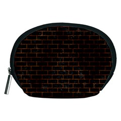 Brick1 Black Marble & Brown Marble Accessory Pouch (medium)
