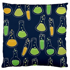 Science Geek Large Flano Cushion Case (two Sides)