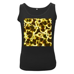 Abstract Pattern Women s Black Tank Top