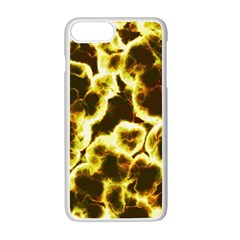 Abstract Pattern Apple Iphone 7 Plus White Seamless Case