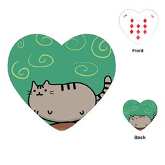 Fat Cat Playing Cards (heart)