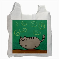 Fat Cat Recycle Bag (one Side)