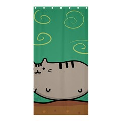 Fat Cat Shower Curtain 36  X 72  (stall)