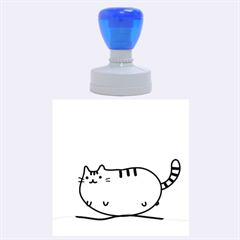 Fat Cat Rubber Round Stamps (large)