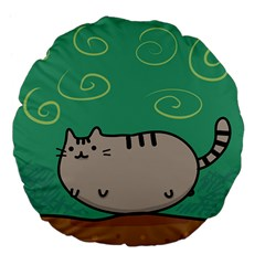 Fat Cat Large 18  Premium Flano Round Cushions