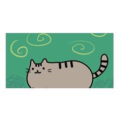 Fat Cat Satin Shawl