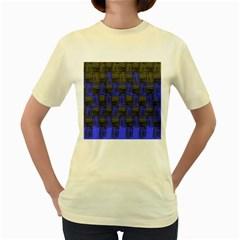 Basket Weave Women s Yellow T Shirt