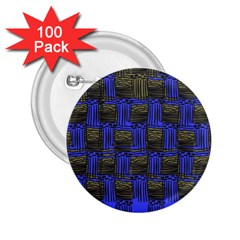 Basket Weave 2 25  Buttons (100 Pack)