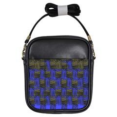 Basket Weave Girls Sling Bags