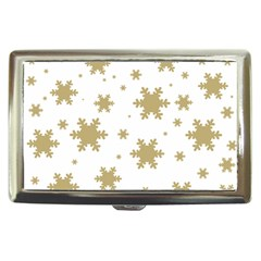 Gold Snow Flakes Snow Flake Pattern Cigarette Money Cases