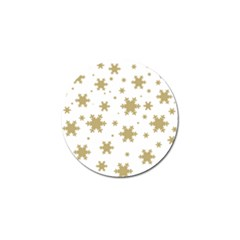 Gold Snow Flakes Snow Flake Pattern Golf Ball Marker (4 Pack)