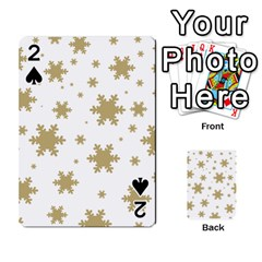 Gold Snow Flakes Snow Flake Pattern Playing Cards 54 Designs