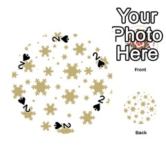 Gold Snow Flakes Snow Flake Pattern Playing Cards 54 (round)