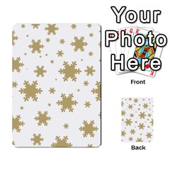 Gold Snow Flakes Snow Flake Pattern Multi Purpose Cards (rectangle)