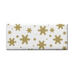 Gold Snow Flakes Snow Flake Pattern Cosmetic Storage Cases