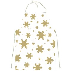 Gold Snow Flakes Snow Flake Pattern Full Print Aprons