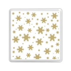 Gold Snow Flakes Snow Flake Pattern Memory Card Reader (square)