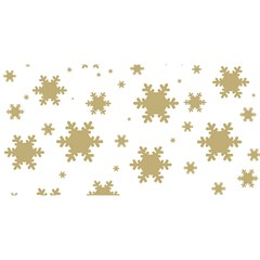 Gold Snow Flakes Snow Flake Pattern You Are Invited 3d Greeting Card (8x4)