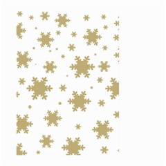 Gold Snow Flakes Snow Flake Pattern Large Garden Flag (two Sides)