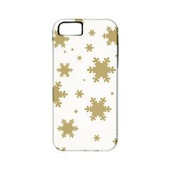 Gold Snow Flakes Snow Flake Pattern Apple Iphone 5 Classic Hardshell Case (pc+silicone)