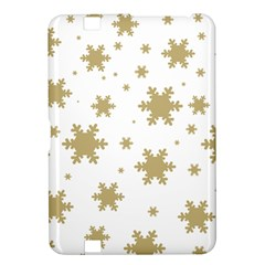 Gold Snow Flakes Snow Flake Pattern Kindle Fire Hd 8 9