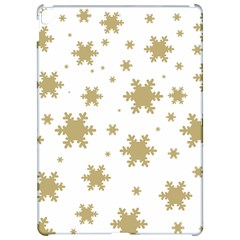 Gold Snow Flakes Snow Flake Pattern Apple iPad Pro 12.9   Hardshell Case