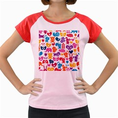 Digital Scrapbook Paper Vintage Backgrounds And Animales Women s Cap Sleeve T Shirt
