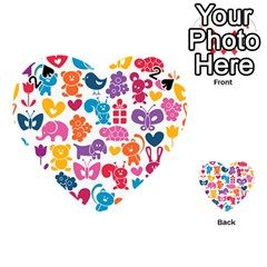 Digital Scrapbook Paper Vintage Backgrounds And Animales Playing Cards 54 (Heart)
