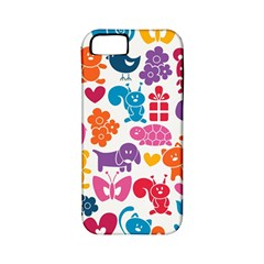 Digital Scrapbook Paper Vintage Backgrounds And Animales Apple Iphone 5 Classic Hardshell Case (pc+silicone)