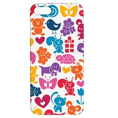 Digital Scrapbook Paper Vintage Backgrounds And Animales Apple Iphone 5 Hardshell Case With Stand