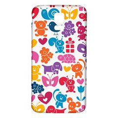 Digital Scrapbook Paper Vintage Backgrounds And Animales Samsung Galaxy S5 Back Case (white)