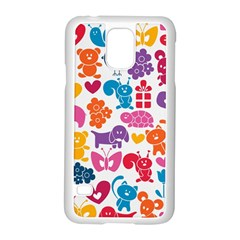 Digital Scrapbook Paper Vintage Backgrounds And Animales Samsung Galaxy S5 Case (white)