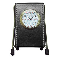 Christmas Wrapping Papers Pen Holder Desk Clocks