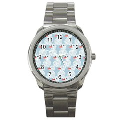 Christmas Wrapping Papers Sport Metal Watch