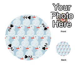 Christmas Wrapping Papers Playing Cards 54 (round)