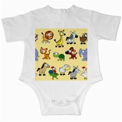 Group Of Animals Graphic Infant Creepers