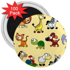 Group Of Animals Graphic 3  Magnets (100 Pack)