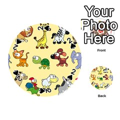 Group Of Animals Graphic Playing Cards 54 (Round)