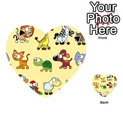 Group Of Animals Graphic Playing Cards 54 (Heart)